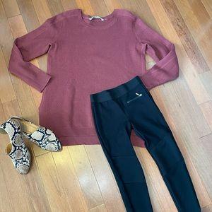 Athleta Honeycomb Thermal Knit Sweater Large